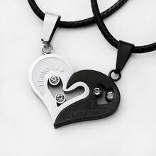 цена A Variety of Colors with Personalized Couple Necklace, Love Witness, Heart Pendant Jewelry Statement Necklace онлайн в 2017 году