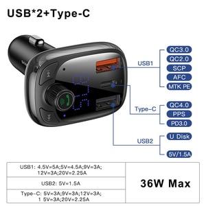 Image 5 - Baseus Quick Charge 4,0 автомобильное зарядное устройство с fm передатчиком Bluetooth Handsfree FM модулятор PD 3,0 Быстрая зарядка для iPhone 11 Pro