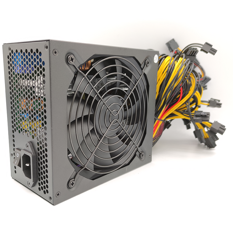 Купить с кэшбэком 1600w power supply for 6 GPU ethereum Miner Power Supply For Bitcoin Miners support 6 graphics Card  RX470 RX480 RX570 RX580 PC