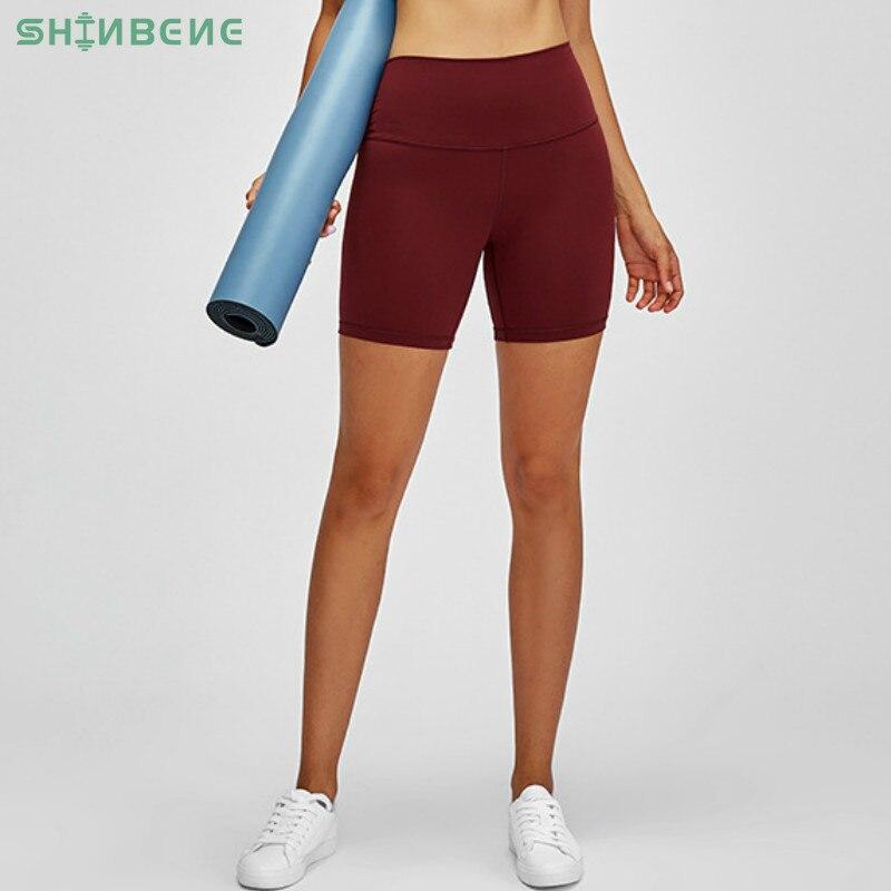 SHINBENE Классическая 2,0 Naked feel тянущиеся спортивные фитнес шорты Женщины масло мягкий приседание доказательство тренажерный зал Йога атлетические шорты Шорты для йоги      АлиЭкспресс