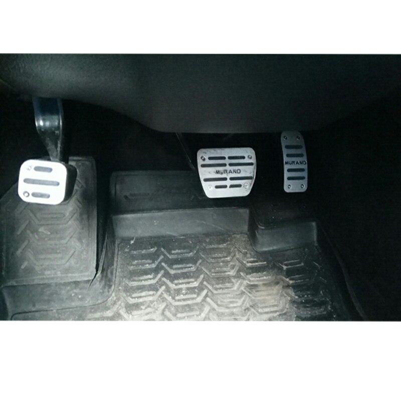 Aluminium accélérateur pédale gaz plaquette de frein pédale protecteur autocollant pour Nissan Murano Z52 2015 2016 2017 accessoires de voiture