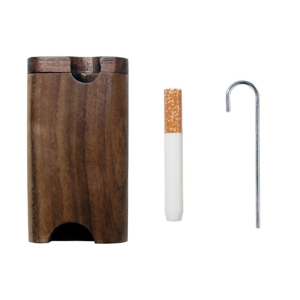 COURNOT из натурального дерева Dugout с керамической один htter летучая мышь труба 46*78 мм мини деревянная Dugout Box дымовая труба аксессуары Органайзер коробка - Цвет: Type-1