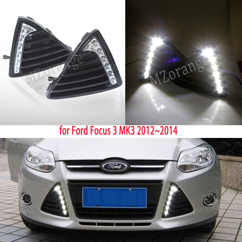 for <font><b>Ford</b></font> <font><b>Focus</b></font> 3 <font><b>LED</b></font> headlight for <font><b>ford</b></font> <font><b>focus</b></font> <font><b>MK3</b></font> <font><b>LED</b></font> light 2012~2014 <font><b>LED</b></font> Daytime Running Lights DRL fog lights Cover headlights image