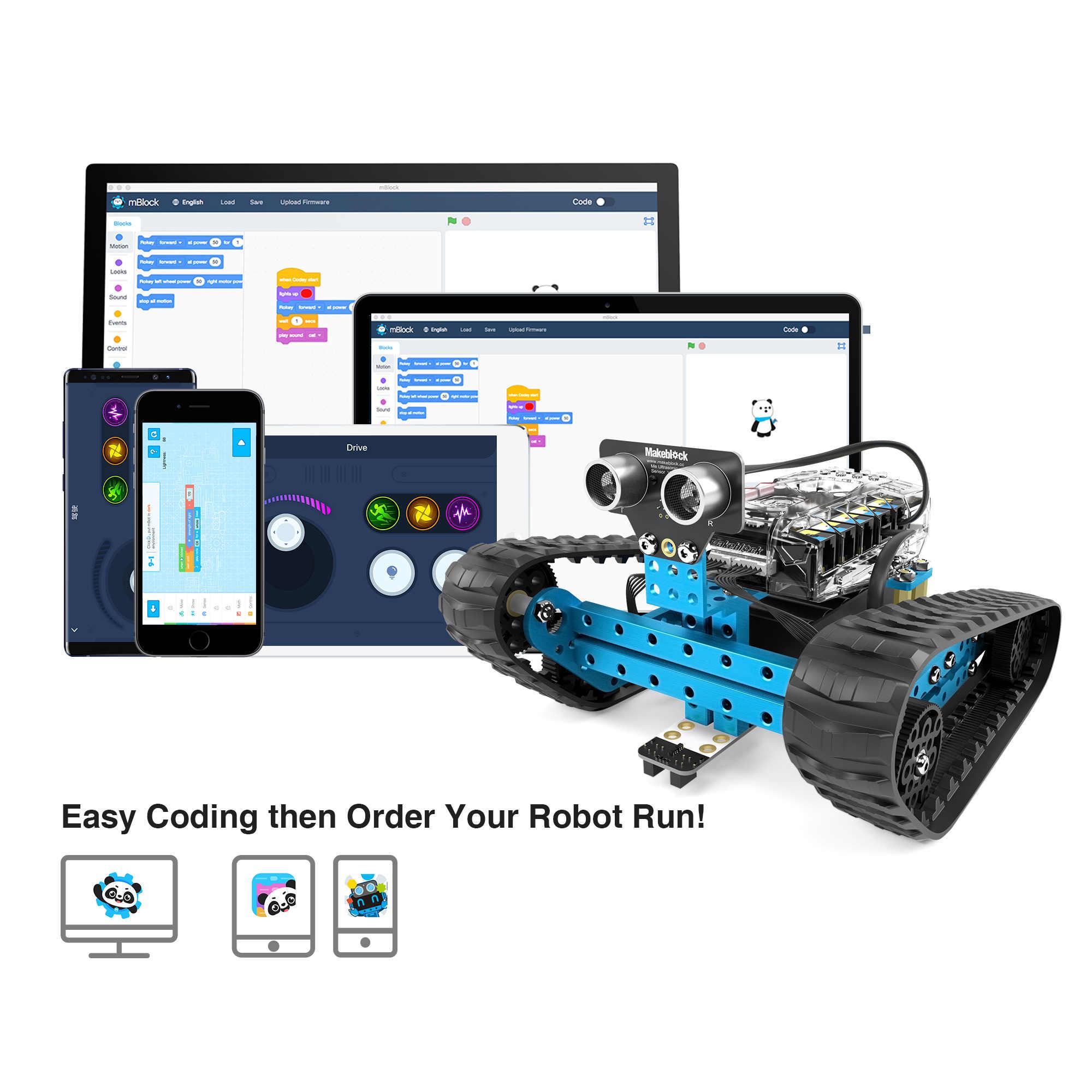 Makeblock プログラマブル mbot レンジャーロボットキット arduino の、幹教育、 3 で 1 プログラマブルロボット子供のための、年齢 12 +