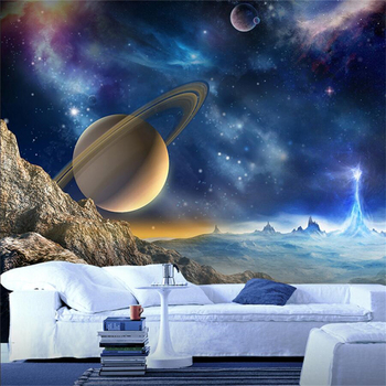 Custom wallpaper 3d murals space universe wall living room bedroom children's room wall paper decorative painting 3d wallpaper цена 2017