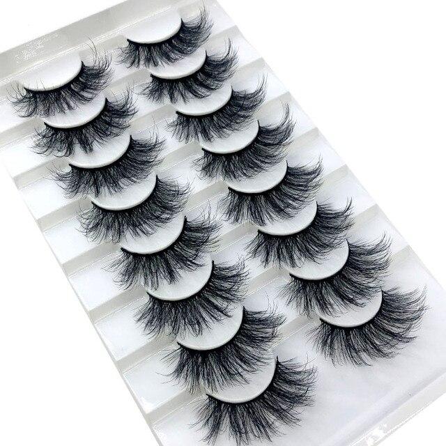 HBZGTLAD New 8 pairs 15-23mm natural 3D false eyelashes fake lashes makeup kit Mink Lashes extension mink eyelashes maquiagem 3