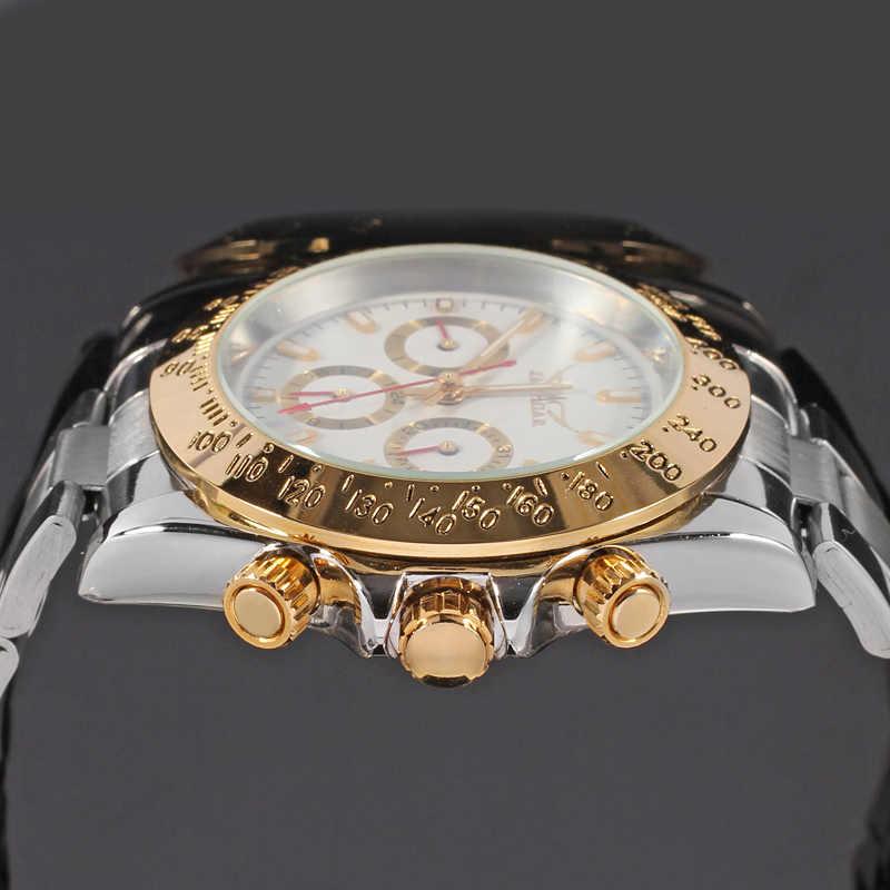 Jaragar 2019 montre オムメンズ腕時計自動ファッションゴールデンステンレススチール日付スポーツ機械式腕時計時計レロジオ