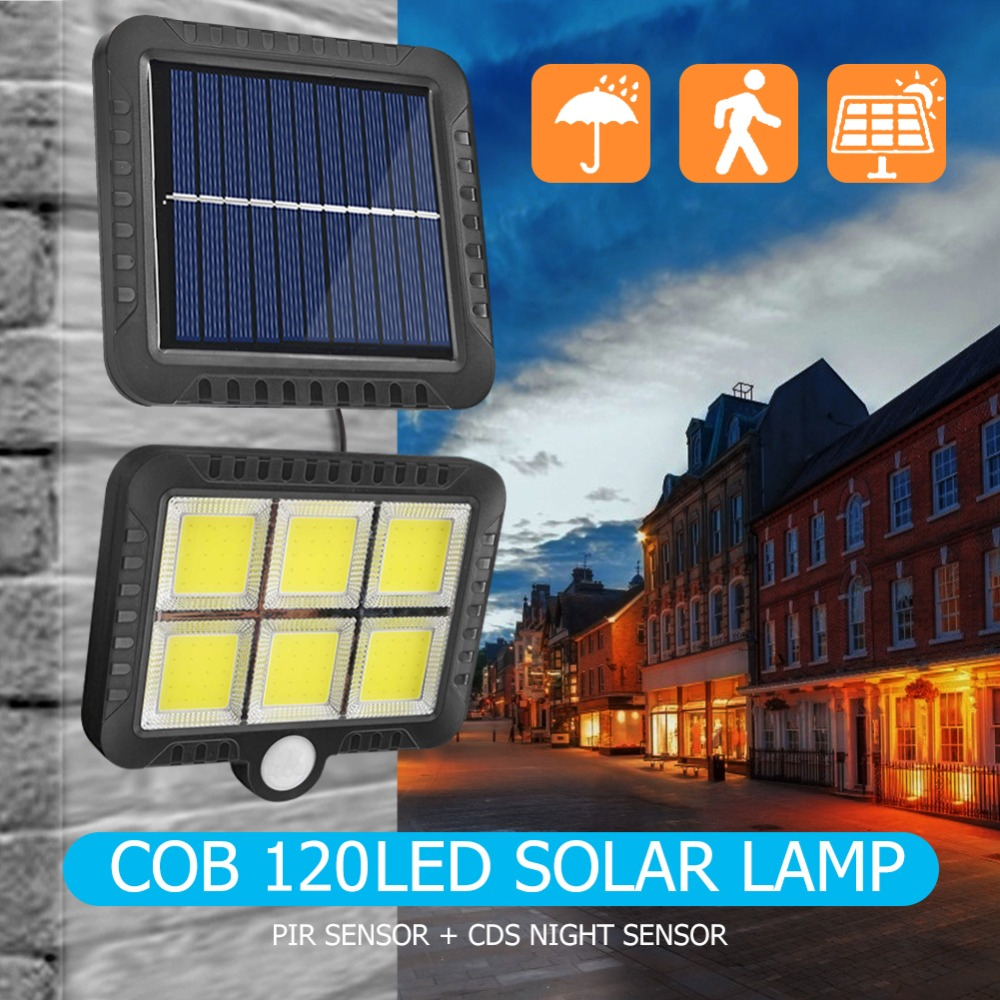 COB Wall Mounted Solar Outdoor Light with 120LED and Motion Sensor Suitable for Street and Garden 17