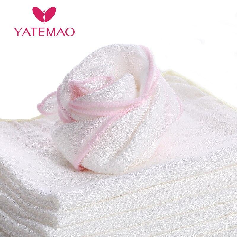 YATEMAO 3PCS New Born Baby Feeding Towel Children Small Handkerchief 100% Cotton Gauze Towel Feeding Square Towels