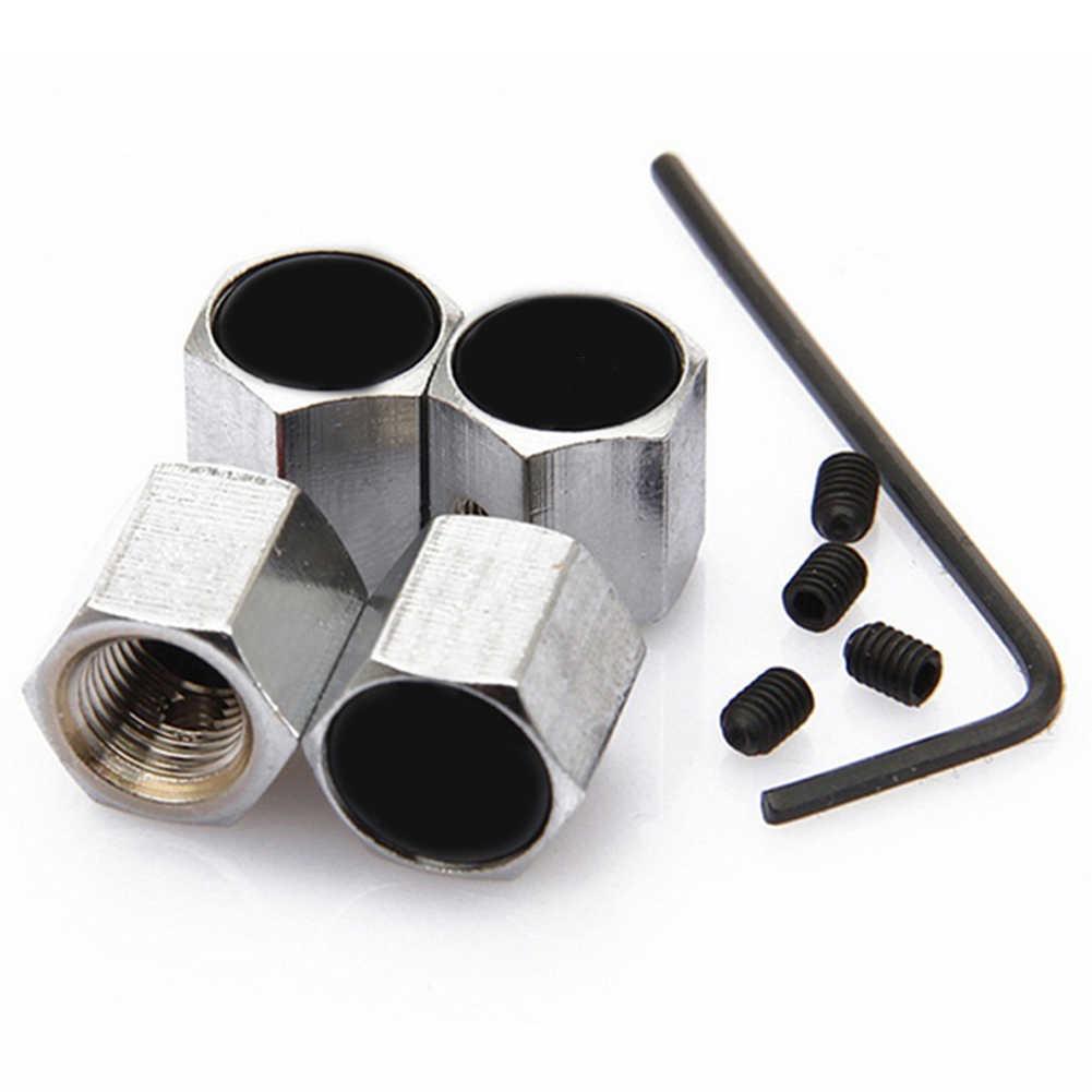 4 sztuk antykradzieżowe koło samochodowe wkładka do wentyla opony kapsle ochronne powietrza można dostosować akcesoria samochodowe stylizacja samochodów ze stali nierdzewnej