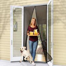 Магнитный экран дверь громкая связь магнитный противомоскитная сетка дверь сетка защита от мух насекомых дверь экран защита от комаров занавеска сетка для двери