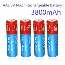 AA Rechargeable Batteries NiZn 3800mAh Replace 1.5V/1.2V AA battery 1.6V Battery for toys MP3 Solar Lights Camera MP4 RC car
