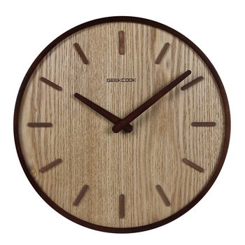 Creative Wooden Wall Clock Nordic Bedroom Vintage Wood Modern Design Wall Clocks decorative living room home decoration II50BGZ