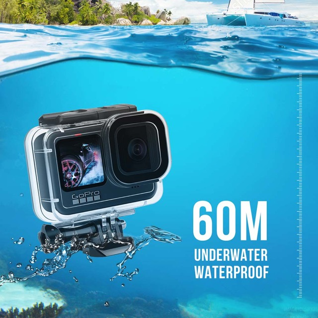 60M Waterproof Case for GoPro Hero 9 Black Protective Diving Underwater Housing Shell Cover for Go Pro 9 Camera Accessory 6