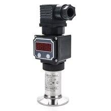 Sanitary flat membrane pressure sensor