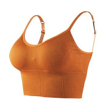 HELIAR Women Crop Tops Women Lingerie Tops Women's Tube Tops Cottons Tank Tops Adjustable Straps Crop Tops For Women Underwear 1