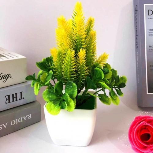 1 шт. искусственный цветок трава искусственный бонсаи Гостиная Офис садовый стол Декор - Цвет: Цвет: желтый