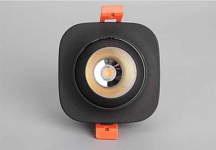 teto ponto luz 10w 15 AC85-265V led teto recesso luzes