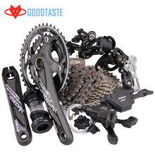 Diy sensah 30 velocidade transmissão kit 10 velocidade 20 mountain bike m6000 acessórios de discagem traseira m610 placa dente desviador da bicicleta