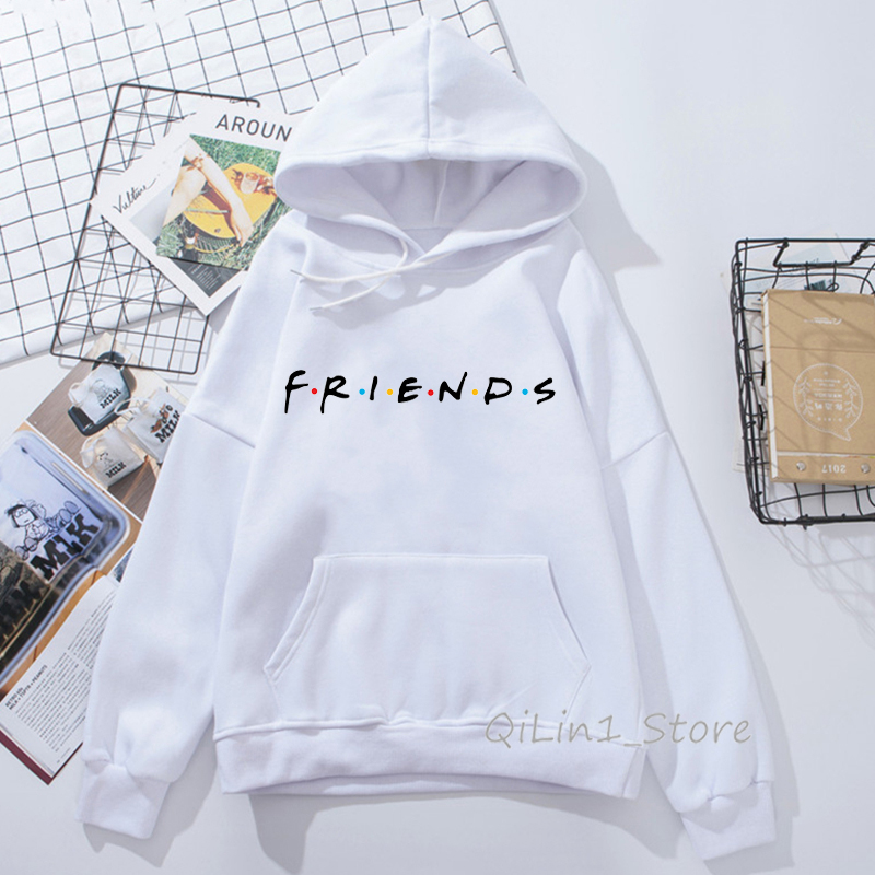 Friends Sweatshirt Harajuku Kawaii Hoodie Woman Cap Sudadera Mujer Best Friend Birthday Gift Winter Clothes Bff Streewear Hoody