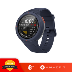 Global Version Huami Amazfit Verge Sport Smartwatch GPS GLONASS Music on board Call Answer Smart Message Push Heart Rate Monitor