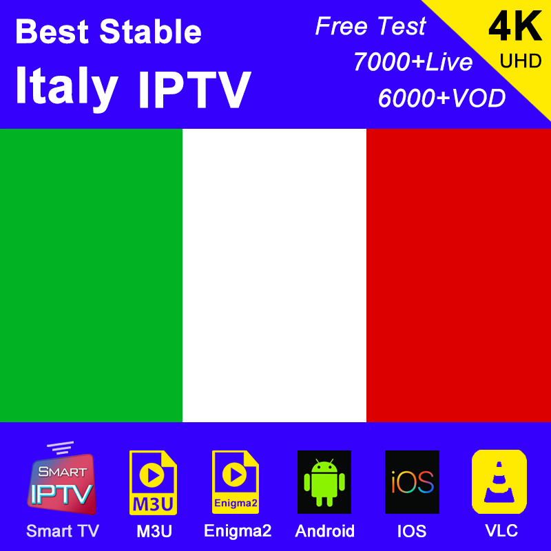 Italy IPTV Subscription M3u Abonnement IPTV USA Canada Spain France America Germany Portugal Android Smart TV Box Enigma2 PC