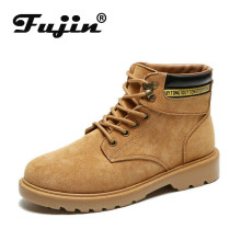 Fujin Women Winter  Boots Dropshipping Platform Flat Warm Plush Chaussures Femme Short
