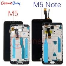 สำหรับ Meizu M5 หมายเหตุจอแสดงผล LCD หน้าจอสัมผัส M621H M621Q M621M สำหรับ Meizu M5 LCD M611D M611Y M611A M611H M5S จอแสดงผลกรอบ