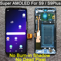 ORIGINAL AMOLED Replacement for SAMSUNG Galaxy S9 S9+ LCD display Touch Screen Digitizer with Frame G960 G965 s9 plus lcd