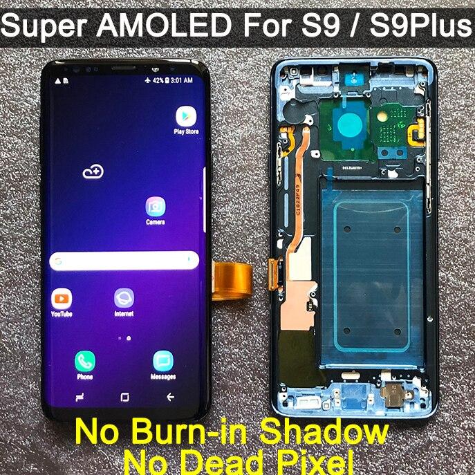 Original amoled substituição para samsung galaxy s9 s9 + display lcd digitador da tela de toque com quadro g960 g965 s9 mais lcd