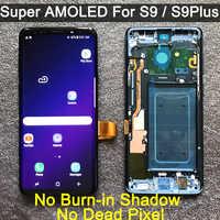 Remplacement d'origine AMOLED pour SAMSUNG Galaxy S9 S9 + LCD écran tactile numériseur avec cadre G960 G965 s9 plus lcd