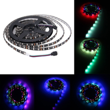 5M RGB LED Strip Lighting 5050 DC 12V Waterproof Black PCB Flexible 60LED/M LED Strip Lamp RGB 12V 5M Tape SMD 5050 TV Backlight