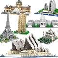 Architecture Big Ben Eiffel Tower London Pair Louvre Micro Building Blocks Capitol Sydney Opera House Taj Mahal Construction toy