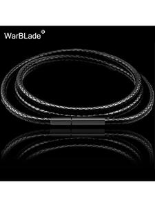 Chain Cord Wax-Rope Clasp Necklace-Making Stainless-Steel DIY 3mm Women with for 1mm