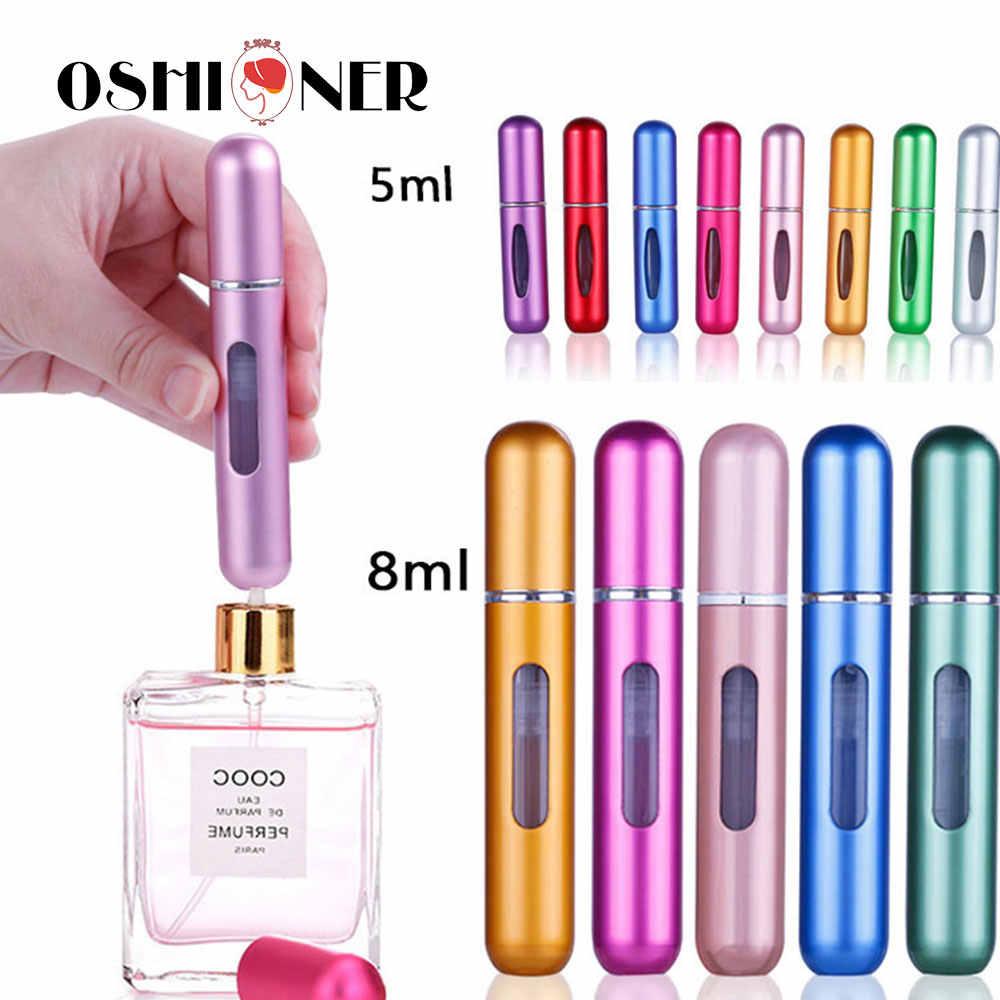 Mini taşınabilir doldurulabilir parfüm sprey şişe alüminyum makyaj su atomizör şişe boş konteyner seyahat parfüm şişesi aracı