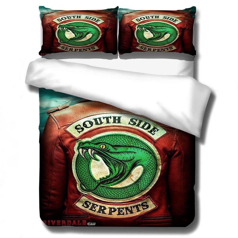Riverdale Bedding Set Duvet Covers Pillowcases RIVERDALE TV Series Comforter Bedding Set Bedclothes Bed Linen(NO Sheet)