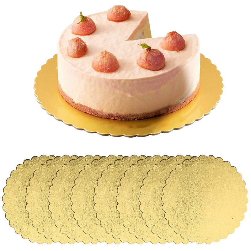 1 PC Gold Cakeboard Round Disposable Cake Circle Base Boards Cake Plate Round Coated Cakeboard Base Bakery Accessories Tools