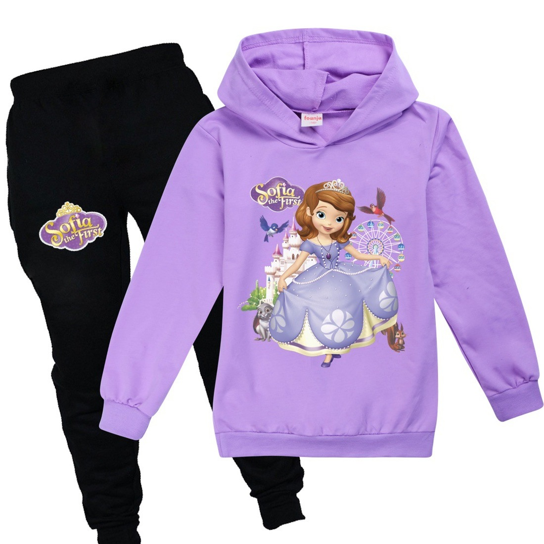 Girls Clothes Spring Autumn Kids Sweatshirt Set Fashion Hoodies Sofia Princess T-Shirt Tracksuit Children Kid Girl Clothing Set