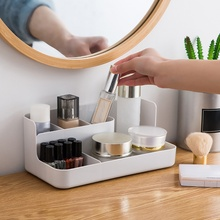 Home Concise Solid Color Cosmetic Storage Box Plastic Desktop Sorting Box Cosmetic Box Storage Box 2020