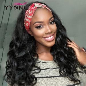 YYongHair Body Wave HeadBand Wigs 100% Human Hair Wig Brazilian Body Wave Hair Wig 8-24inch Glueless Remy Wavy Human Hair Wig