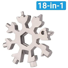 18-in-1 Snowflake Multi Tool Pocket Stainless Steel Multitool Edc Tool Card Hex Wrench Screwdriver Allen Wrench Christmas Gift