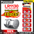 10 шт./лот Panasonic батареи 1,5 V AG10 LR1130 щелочная батарея таблеточного типа AG10 389 LR54 SR54 SR1130W 189 LR1130 аккумуляторы таблеточного типа