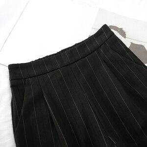 Image 5 - נשים מכנסיים פסים כיסי Loose דק קיץ קוריאני הרמון מכנסיים Harajuku נשים אלסטי מותניים מקרית חדש סגנון אופנה יומי
