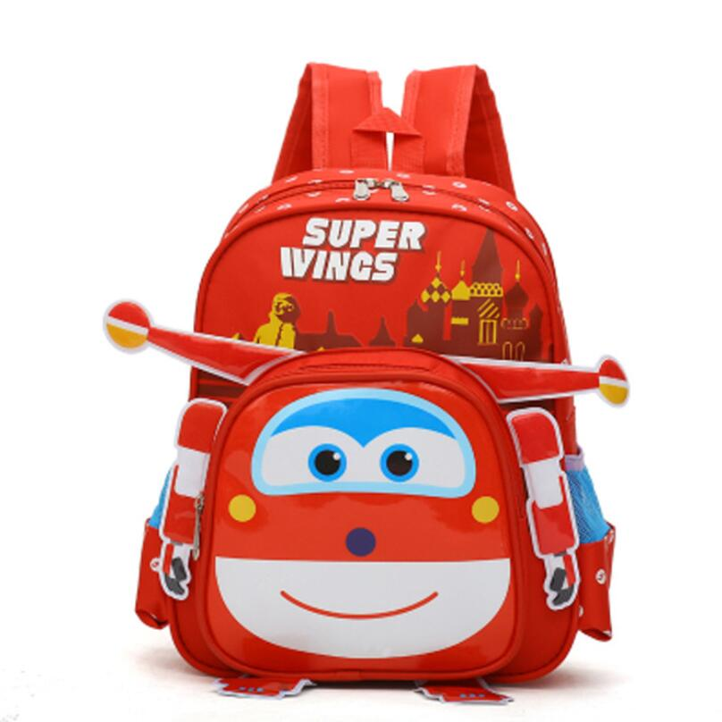 New Fashion Cartoon Super Wings Cute Kid School Bags 3D Style Children Backpacks Kindergarten Girls Boys Baby Backpack
