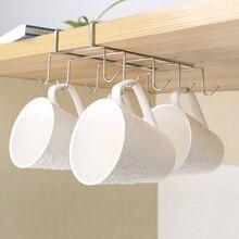 Stainless Steel Kitchen Rack Hanging Coffee Tea Cup mug Holder Shelf Kitchen Storage Rack Organizer Holder стоимость
