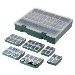 7 w 1 kompletne pudełko ze sprzętem wędkarskim 4 przegródki/6 przegródek/8 przegródek przechowywanie sprzętu skala Box dla wędkarzy Accesso w Narzędzia wędkarskie od Sport i rozrywka na