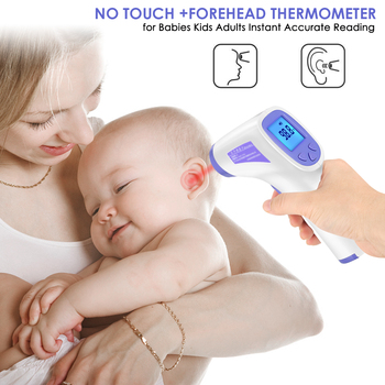 Electric Thermometer One Second No Touch Non-Contact Body Fever Thermometer Digital IR Infrared Forehead Thermometer