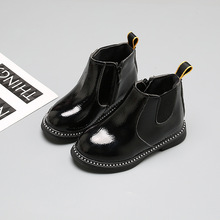 3-12 years NEW 2019 Girls Leather Boots Boys Shoes Spring Autumn PU Leather Children Boots Fashion Kids Boots Warm Winter Boots