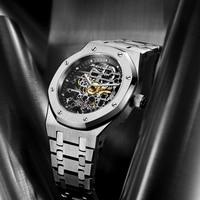 Orologio meccanico automatico scheletro da uomo FEICE orologio da polso sportivo sportivo da uomo luminoso impermeabile orologio da polso in cristallo di zaffiro di lusso