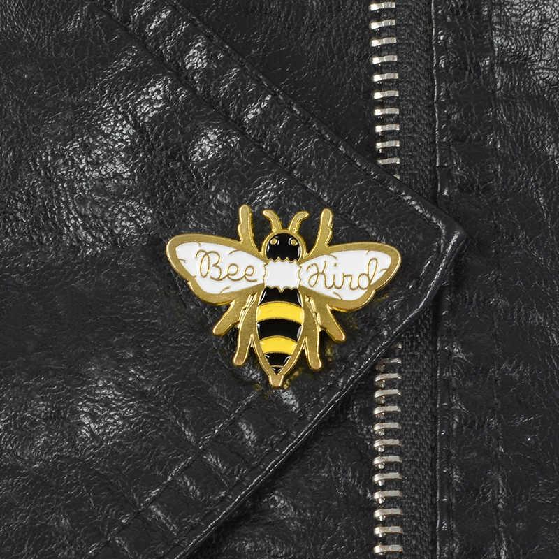 Menjadi Seperti Lebah Enamel Pin Bekerja Keras Mengumpulkan Madu Bros Kebaikan Serangga Kerah Pin Lencana Kemeja Ransel Perhiasan Hadiah pin
